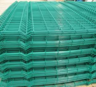 Green Pvc Coated Welded Wire Mesh Panel Steellong Wire