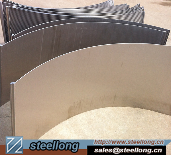 SS wedge wire parabolic panel Sieve bend screen