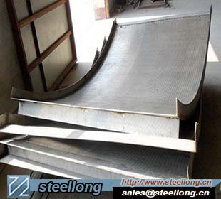 wedge wire screen for dewatering equipment