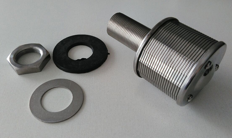 Wedge Washer Plate : Ss wedge wire media retention nozzles with npt thread